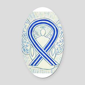 ALS Awareness Ribbon Angel Oval Car Magnet