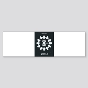 Minimalist Interstellar Art Bumper Sticker