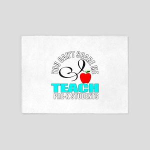 Pre-k teacher 5'x7'Area Rug