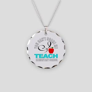 School teacher Necklace Circle Charm
