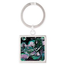 Mermaid Siren Atlantis Pearl Square Keychain