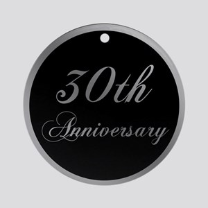 30th Wedding Anniversary Ornament (Round)