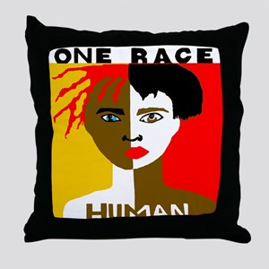 Anti-Racism Throw Pillow