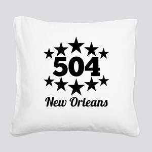 504 New Orleans Square Canvas Pillow