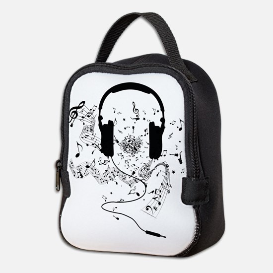 Cute Music Neoprene Lunch Bag