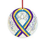 Bladder Cancer Awareness Ribbon Ornament (Round)