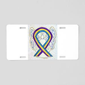 Bladder Cancer Awareness Ribbon Aluminum License P