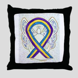 Bladder Cancer Awareness Ribbon Throw Pillow