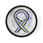 Bladder Cancer Awareness Ribbon Wall Clock