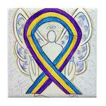 Bladder Cancer Awareness Ribbon Tile Coaster