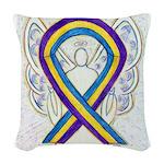 Bladder Cancer Awareness Ribbon Woven Throw Pillow