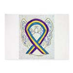Bladder Cancer Awareness Ribbon 5'x7'Area Rug