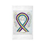 Bladder Cancer Awareness Ribbon Area Rug