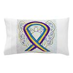 Bladder Cancer Awareness Ribbon Pillow Case