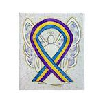 Bladder Cancer Awareness Ribbon Throw Blanket