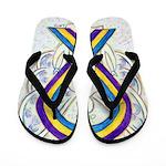 Bladder Cancer Awareness Ribbon Flip Flops