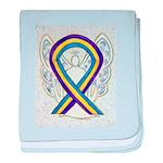 Bladder Cancer Awareness Ribbon baby blanket