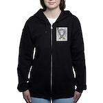 Bladder Cancer Awareness Ribbon Women's Zip Hoodie