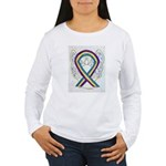 Bladder Cancer Awareness Ribbon Long Sleeve T-Shir