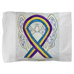 Bladder Cancer Awareness Ribbon Pillow Sham