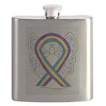 Bladder Cancer Awareness Ribbon Flask