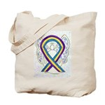 Bladder Cancer Awareness Ribbon Tote Bag