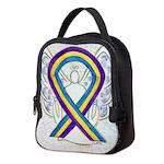 Bladder Cancer Awareness Ribbon Neoprene Lunch Bag