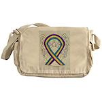 Bladder Cancer Awareness Ribbon Messenger Bag