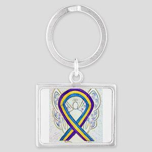 Bladder Cancer Awareness Ribbon Keychains