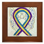 Bladder Cancer Awareness Ribbon Framed Tile