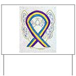 Bladder Cancer Awareness Ribbon Yard Sign