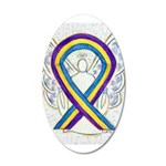 Bladder Cancer Awareness Ribbon Wall Decal
