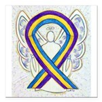 Bladder Cancer Awareness Ribbon Square Car Magnet