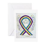 Bladder Cancer Awareness Ribbon Greeting Cards -20