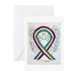Bladder Cancer Awareness Ribbon Greeting Cards -10
