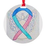 Thyroid Cancer Awareness Ribbon Ornament
