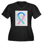 Thyroid Cancer Awareness Ribbon Plus Size T-Shirt
