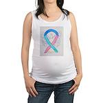 Thyroid Cancer Awareness Ribbon Maternity Tank Top