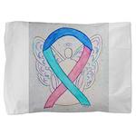 Thyroid Cancer Awareness Ribbon Pillow Sham