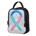 Thyroid Cancer Awareness Ribbon Neoprene Lunch Bag