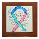 Thyroid Cancer Awareness Ribbon Framed Tile