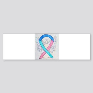 Thyroid Cancer Awareness Ribbon Bumper Sticker
