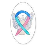 Thyroid Cancer Awareness Ribbon Sticker