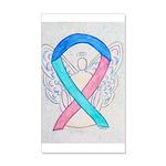 Thyroid Cancer Awareness Ribbon Wall Decal