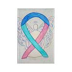 Thyroid Cancer Awareness Ribbon Magnets -10 Pk
