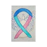 Thyroid Cancer Awareness Ribbon Rectangle Magnets