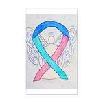 Thyroid Cancer Awareness Ribbon Rectangle Car Magn