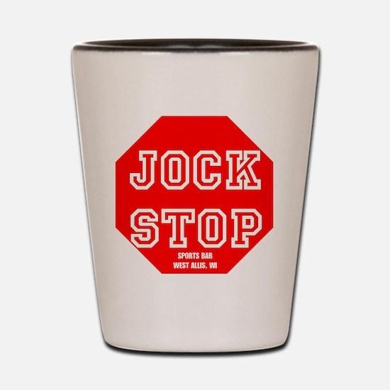 Jock Stop Sports Bar Shot Glass