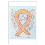 Peach Awareness Ribbon Angel Posters