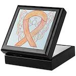 Peach Awareness Ribbon Angel Keepsake Box